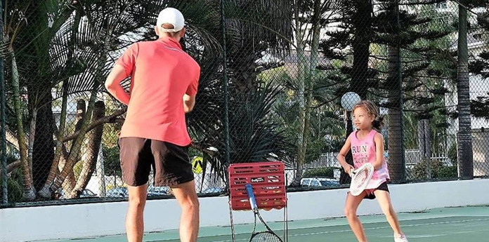 kids private tennis lesson